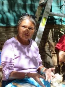 Dine (Navajo) weaver